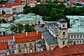 Vilnius Universitetas Šv. Jono Bažnycios Bokštas Blick auf die Lietuvos Respublikos Prezidento Kanceliarija 3.jpg