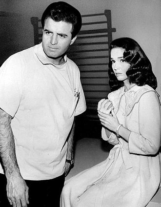 Kathryn Crosby - Crosby with Vince Edwards as a guest star on Ben Casey, 1965.
