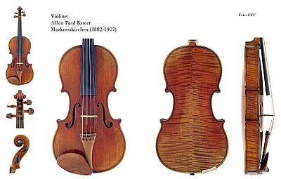 Il violino separato nelle sue varie parti