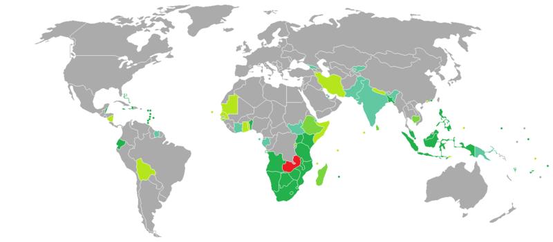 Visa requirements for Zambian citizens - Wikipedia