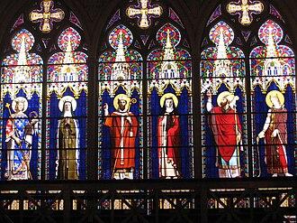 Chapelle royale de Dreux - Gothic glass by the Sèvres porcelain manufactory
