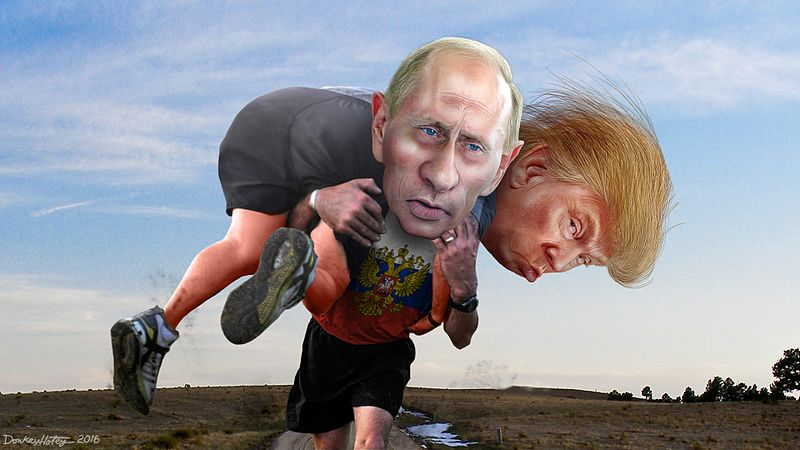 File:Vladimir Putin carrying his buddy Donald Trump.jpg