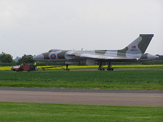 Avro Vulcan XM655 One of three remaining taxiable Avro Vulcan aircraft