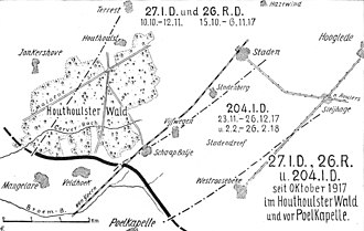 Action of 22 October 1917 - Image: Württ. Div. Flandern Schlacht 1917 2