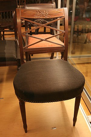 WLA nyhistorical 1805 mahogany chair