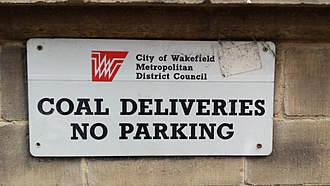 Wakefield Council - Image: WMDC Sign found attached on Wakefield Town Hall