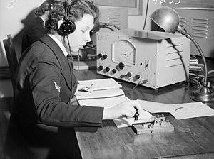 Women's Royal Australian Naval Service - A member of the Women's Royal Australian Naval Service at HMAS Harman in 1941