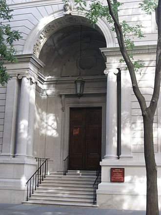 Frick Art Reference Library - Entrance to the library