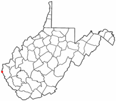 Location of Fort Gay, West Virginia
