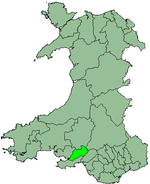 Lliw Valley shown within Wales