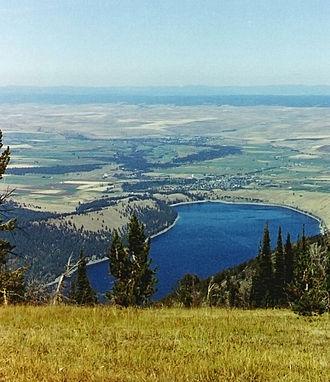 Wallowa Lake - Wallowa Lake and the town of Joseph.