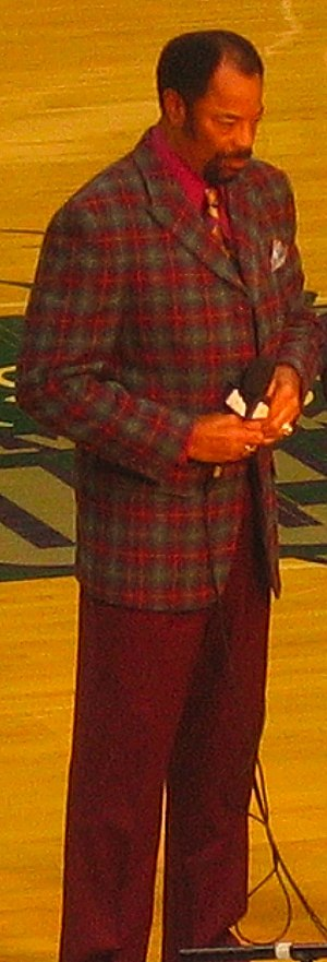 Walt Frazier - Walt Frazier working as Knicks announcer during a game