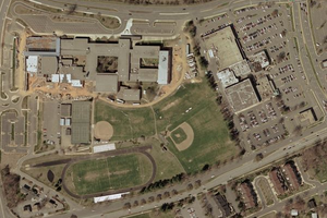 Walter Johnson High School - Aerial photograph of WJHS taken during construction on 7 April 2002 – credit USGS.
