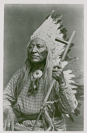 Washakie - Washakie holding a pipe