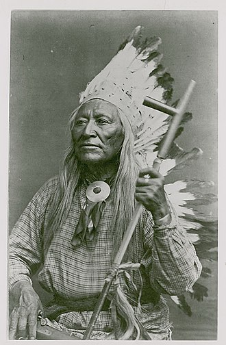 Washakie - Washakie holding a pipe