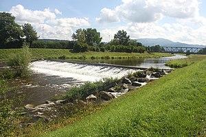 Elz (Rhine) - Wassermer Wehr at the canalised Elz south of Emmendingen