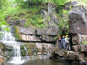 English: Waterfall Geologists, from the Open U...