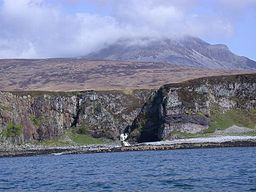 Waterfall on Allt Bun an Eas, West coast of Jura - geograph.org.uk - 41305.jpg