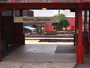 Wayne Junction station - Detail of station sign at Wayne Junction station