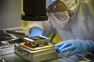 NIRCam - NIRCam Focal Plane Assembly (FPA) undergoing inspection, 2013