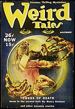Weird Tales cover image for November 1939