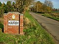 Welcome to Harby - geograph.org.uk - 1597705.jpg
