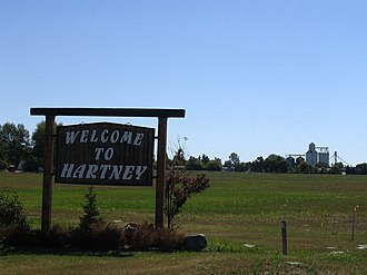 Hartney - Image: Welcome to Hartney