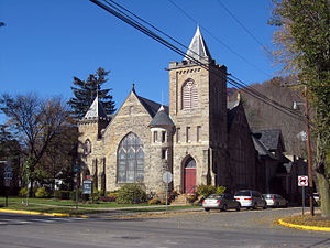 Wellsboro Historic District - Image: Wellsboro PA church