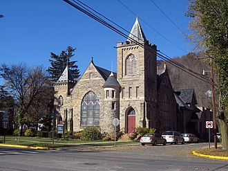 Wellsboro Historic District - Image: Wellsboro PA church