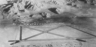 Wendover Air Force Base - Aerial photo of Wendover AAF looking north, 1943