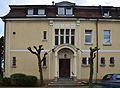 Werl, denkmalgeschützte Villa Wulf, Portalansicht, Steinerstraße 48.JPG