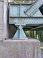 Western bridgehead detail, Rév Street Bridge, 2017 Mosonmagyaróvár.jpg