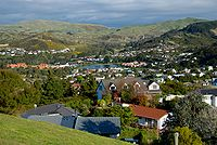 Whitby, New Zealand, with the lower lake.jpg