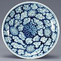 White Porcelain Dish with Chrysanthemum and Cloud Design in Underglaze Cobalt Blue (cropped).jpg