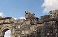 White storks nesting on Roman ruins. Volubilis (37047351484).jpg