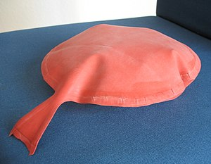 Rubber whoopee cushion on a chair