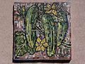 Wien-Penzing - Gemeindebau Hadikgasse 268-272 - Stiege 6 - Mosaik Gurken - Herbert Schütz 1953-54.jpg