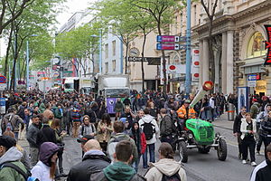 Global Marijuana March - Vienna, Austria. May 3, 2014. Hanfwandertag.