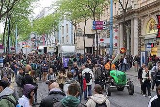 Global Marijuana March - Vienna, Austria. May 3, 2014. Hanfwandertag.