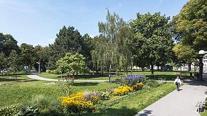 So kommt man zu der Bruno-Kreisky-Park mit den Öffentlichen - Mehr zum Ort Hier