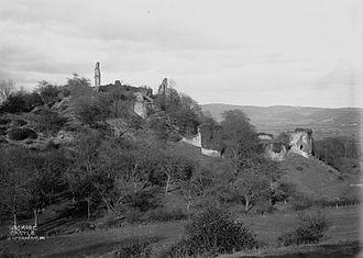 Wigmore Castle - Wigmore castle c.1910's