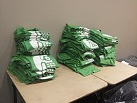 Wikimania 2015-Wednesday-Shirts for participants.jpg