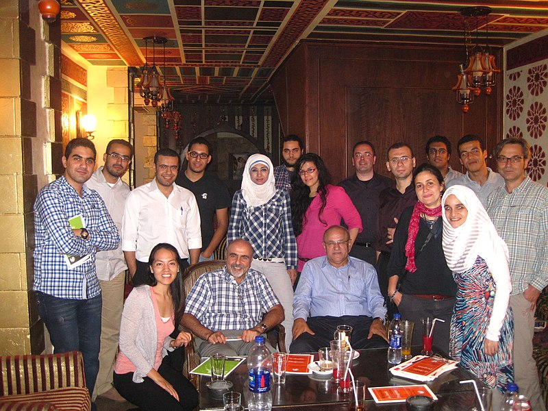 File:Wikimedia Cairo Meetup at LeCaire.jpg