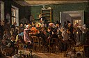 Wilhelm Marstrand, Scene from an auction, 1835, 0181NMK, Nivaagaards Malerisamling.jpg