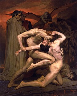 Dante and Virgil in Hell, by William-Adolphe Bouguereau (1850)