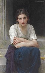 William-Adolphe Bouguereau - Rêverie sur le Seuil (1893).jpg