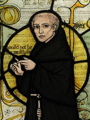 William of Ockham - William of Ockham depicted on a stained glass window at a church
