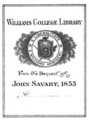 Williams College Savary bookplate.png