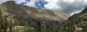 Willow Lake (Saguache County, Colorado) - Image: Willow Creek Lake CO panorama
