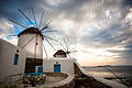 Windmills of the Mykonos Island, Chora. Cyclades, Agean Sea, Greece-2.jpg